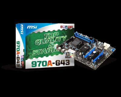MOT MSI 970A-G43 AM3+ FX