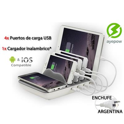 CARGADOR MULTIPLE X5 ANDROID/IPHONE