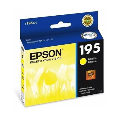 CARTUCHO EPSON T195 AMARILLO R.210 -XP-10/101/201