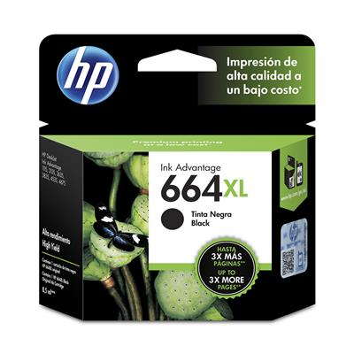 CARTUCHO HP 664XL NEGRO F6V31AL