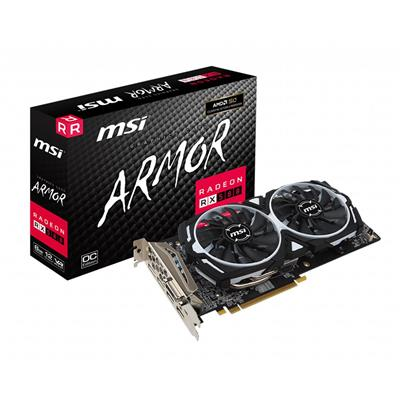 PLACA VIDEO VGA PCI-E 4GB RX 580 ARMOR 4G OC MSI
