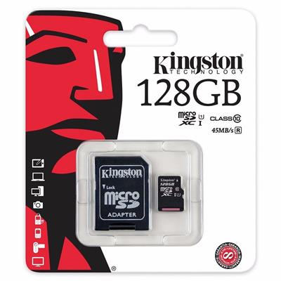 MEMORIA SD MICRO 128GB KINGSTON CLASE 10 45MB