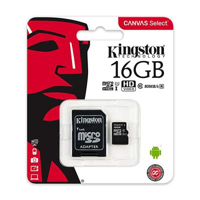 MEMORIA SD MICRO 16GB KINGSTON CLASE 10