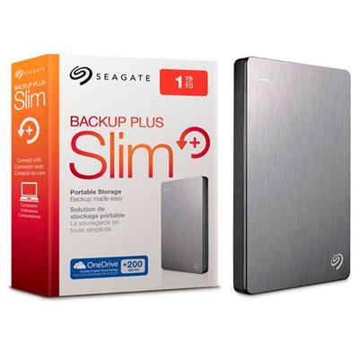 DISCO PORTATIL 1TB SEAGATE EXT USB 3.0 SILVER BACKUP PLUS