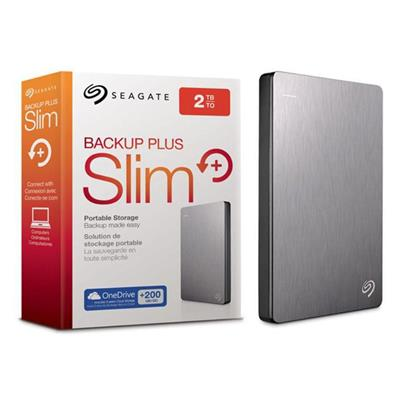 DISCO PORTATIL 2TB SEAGATE EXT USB 3.0 SILVER BACKUP PLUS