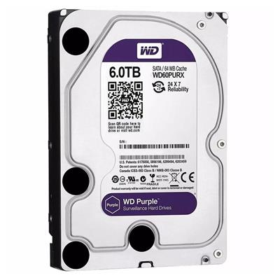 DISCO RIGIDO 6TB W.DIGITAL PURPLE SATA3 64MB