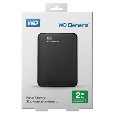 DISCO PORTATIL 2TB W. DIGITAL EXT USB 3.0 ELEMENT